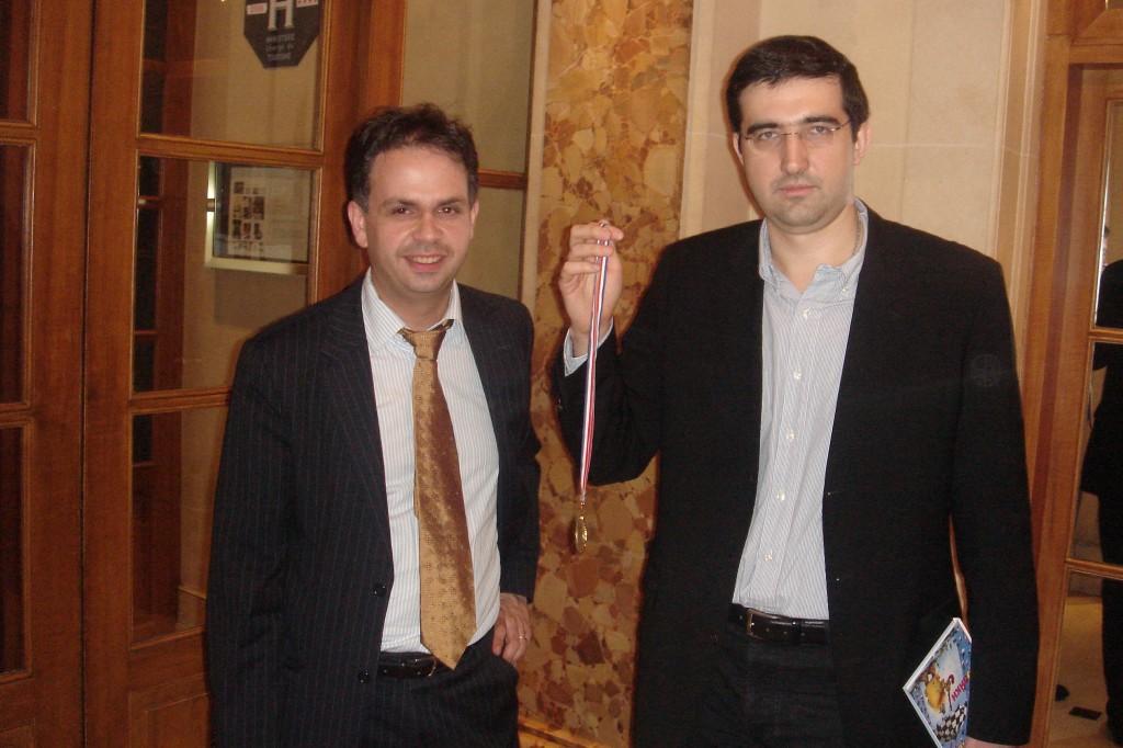 Vladimir Kramnik Champion du Monde et Frank Bairamian